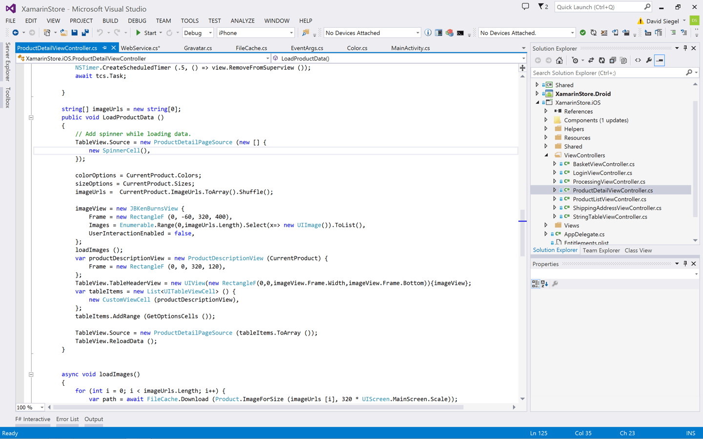 visual studio full screen code